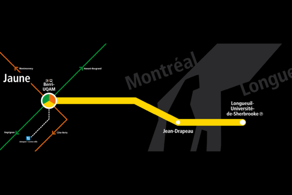 Montréal Subway yellow line map
