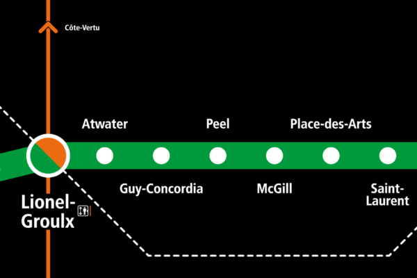 Montréal Subway green line, detail